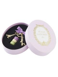 Keyring macarons M, LADUREE // Cassis Violet