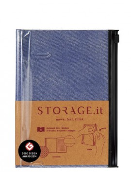 Carnet Denim Bleu M - STORAGE.it