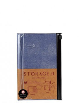 Carnet Denim Bleu S - STORAGE.it