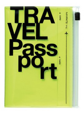 Passport case, TRAVEL KIT // Neon Yellow