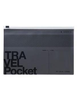 Flat file case, TRAVEL KIT  // Metallic grey