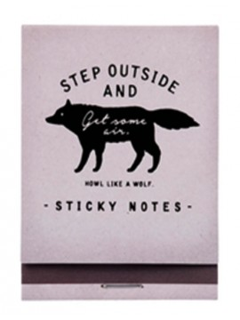 Sticky notes Gris - WOLF - Zakka Collection -