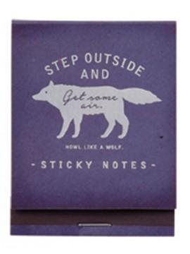 Sticky notes Bleu - WOLF - Zakka Collection -
