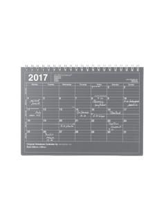 2017 Notebook-type Calendar, S //  Black