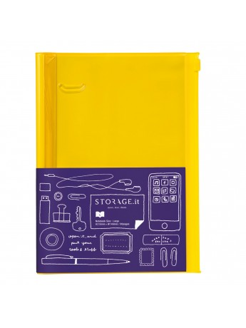 Carnet Solid Yellow L - STORAGE.it