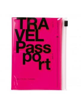 Protège Passeport Rose Néon - Travel kit