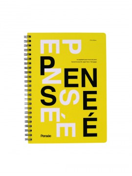A5 Notebook, PENSE // Yellow