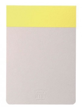 Memo pad HIBI  // Yellow