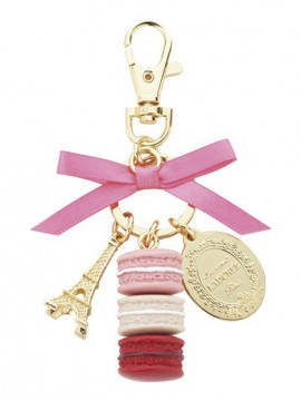 Keyring macarons S, LADUREE // Rose