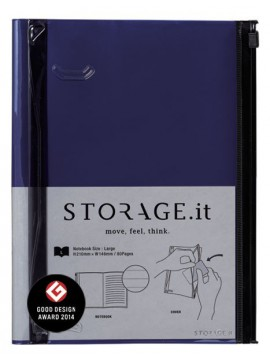 Carnet Bleu Marine L - STORAGE.it