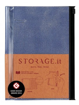Carnet Denim Bleu L - STORAGE.it
