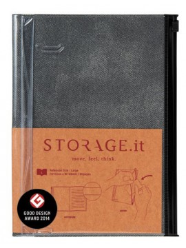 Notebook L Denim Black - STORAGE.it