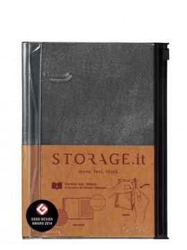 Carnet Denim Noir M - STORAGE.it