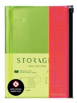 Notebook L, STORAGE.IT // Yellow-Pink