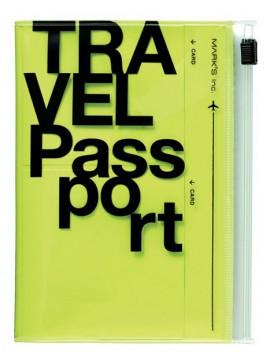 Passport case, TRAVEL KIT // Neon Yellow