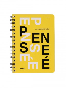 Notebook A6 Yellow - Pensée