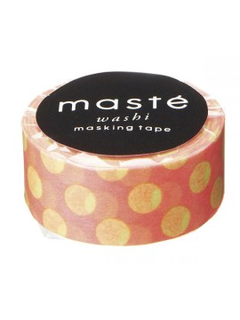 Neon Red Polka Dots - masté® Basic - VISIBLE NEON