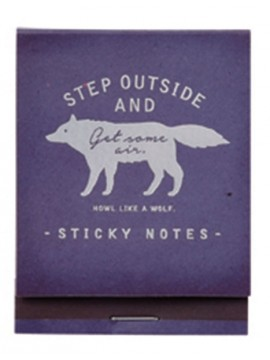 Sticky notes Bleu - WOLF - Zakka Collection -