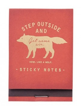 Sticky notes Red - WOLF - Zakka Collection -
