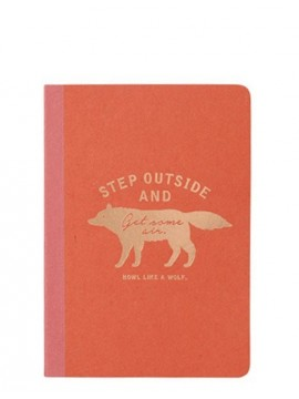 A6 Notebook Red - WOLF