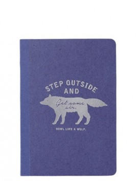 Carnet de note A6 Bleu - WOLF