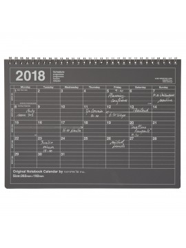 Calendrier 2018 M Noir - Mark's