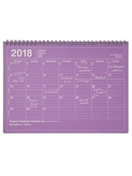 Calendrier 2018 M Violet - Mark's