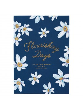 Notebook A5 Navy - FLOWER