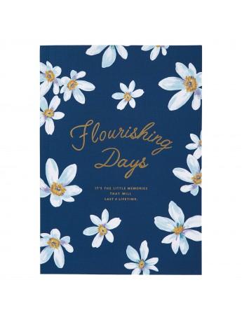 Notebook A5 Navy - FLOWER