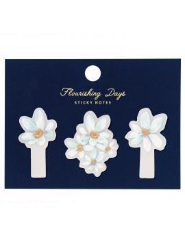 Autocollants Pour Pense-Bêtes Flower Bleu -  Zakka Collection