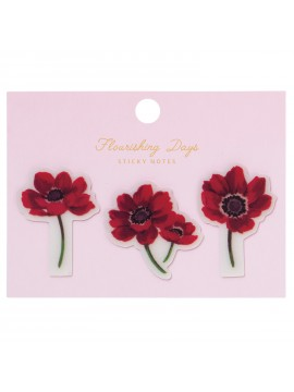 Film Sticky Notes Flower Pink - Zakka Collection