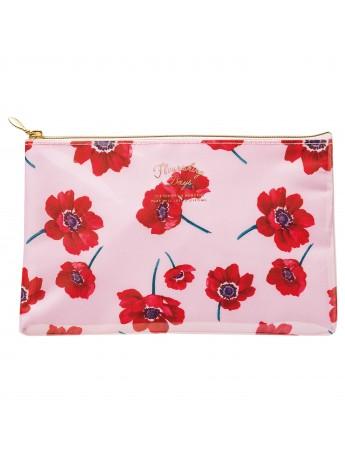 Pochette de rangement Flower Rose -  Zakka Collection