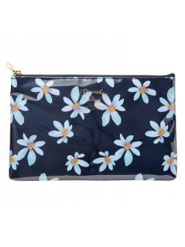 Pochette de rangement Flower Bleu -  Zakka Collection