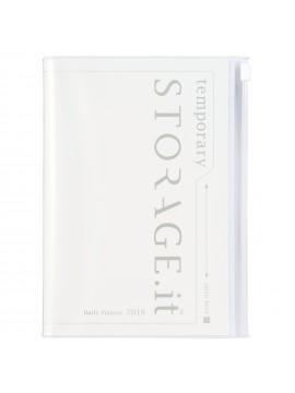 Carnet de note Zippé Blanc A5 - STORAGE.IT