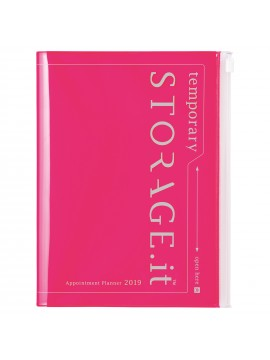 2019 Diary A5 vertical Neon Pink - STORAGE.IT