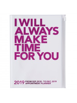 2019 Diary A5 Vertical Pink - MAKE TIME