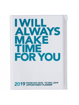Agenda 2019 A5 Vertical Turquoise - MAKE TIME