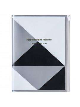 Agenda 2019 A5 Vertical Noir - Geometric Pattern