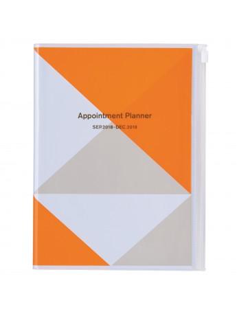 Agenda 2019 A5 Vertical Orange - Geometric Pattern