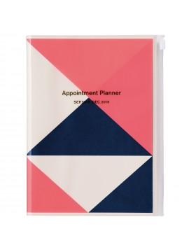 2019 Diary A5 Vertical Pink - Geometric Pattern