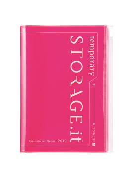 2019 Diary B6 Vertical Neon Pink - STORAGE.IT