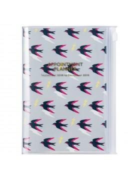 Agenda 2019 B6 Vertical Swallow - Wild Pattern