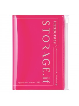 22019 Diary A6 Vertical Neon Pink -  STORAGE.IT