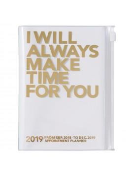 Agenda 2019 A6 Vertical Gold - Make Time
