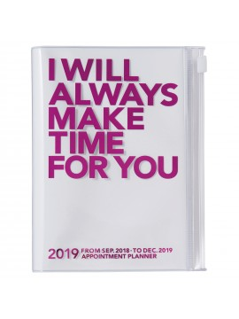 2019 Diary A6 Vertical Pink - Make Time