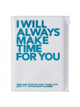2019 Diary A6 Vertical Turquoise - Make Time