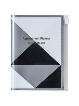 Agenda 2019 A6 Vertical Noir - Geometric Pattern
