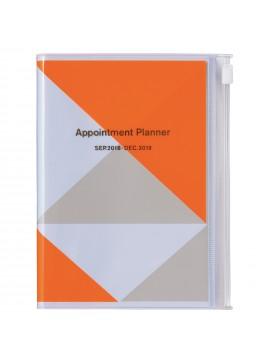 Agenda 2019 A6 Vertical Orange - Geometric Pattern