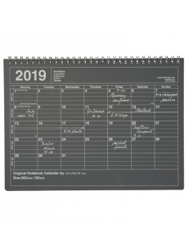2019 Notebook Calendar M Black - Mark's