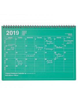 2019 Notebook Calendar M Green - Mark's